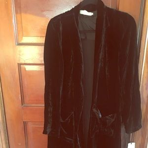 BRAND NEW W TAGS VELVET DUSTER BY JOHNNY WAS!